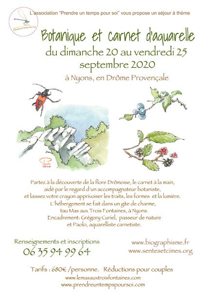 Séjour aquarelle/botanique